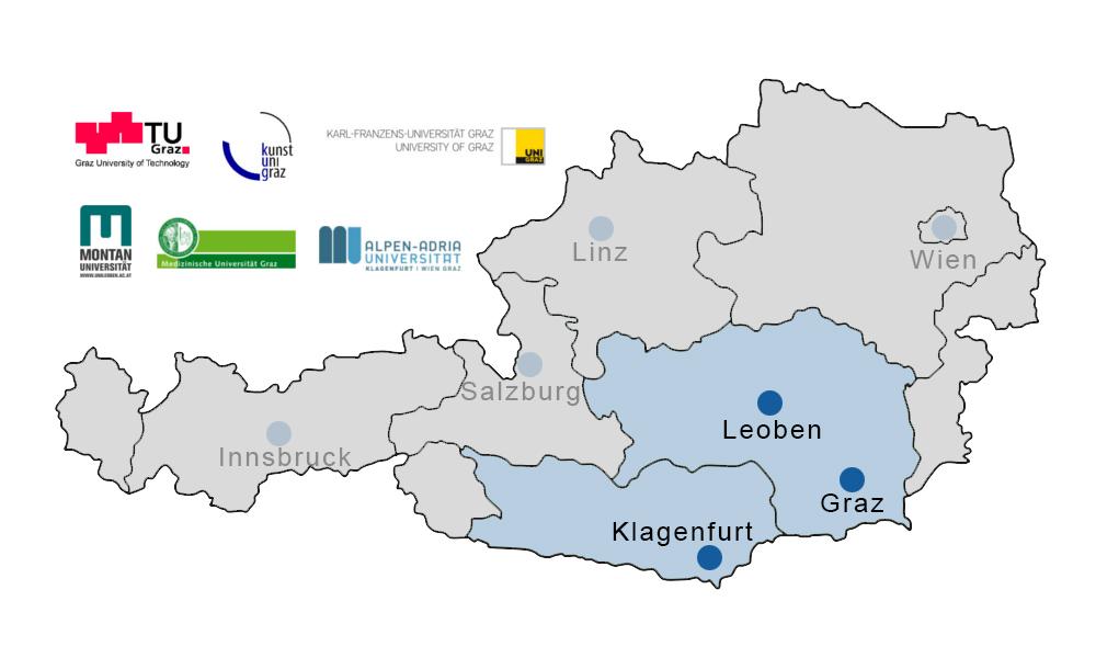 Karte_Österreich_Bundesländer_WTZ_SUED_inklusive_Logos